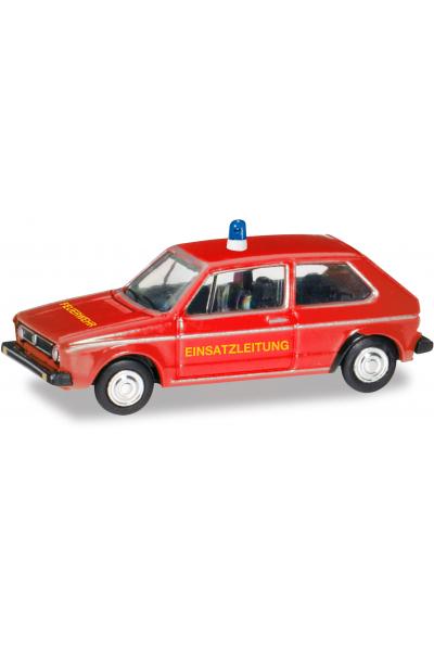 Herpa 066754 Автомобиль Volkswagen Golf I пожарный 1/120