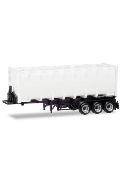 Herpa 076234-002 Прицеп с бак контейнером 30ft 3х осный 1/87