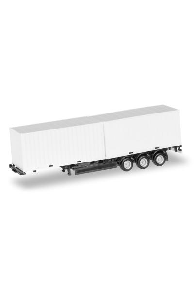 Herpa 076494-002 Прицеп с контейнерами 20ft 2шт 1/87