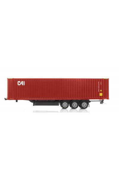 Herpa 076791 Прицеп 3 осный с контейнером CAI Epoche VI 1/87