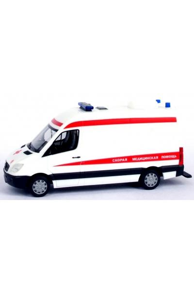 Herpa 900201  Скорая помощь Sprinter 06  Эпоха V-VI 1/87