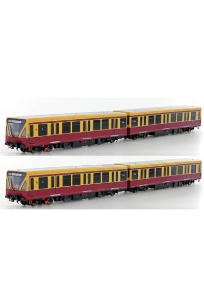 Hobbytrain 305000 Электропоезд 4 вагона BR 480 S-Bahn Berlin DR  Epосне IV 1/87