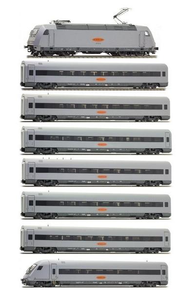 LSM 16041/46043/46044 Набор Электровоз 101 130-3 +7 вагонов MetropolitaN Express GmbH Epoche V 1/87