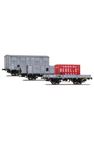 LSM 30275  Набор грузовых вагонов OCEM SNCF Epoche II 1/87