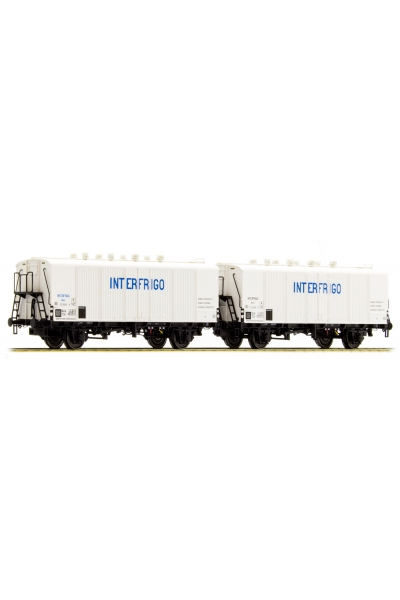 LSM 32103 Набор вагонов Icefs INTERFRIGO SNCB Epoche III 1/87