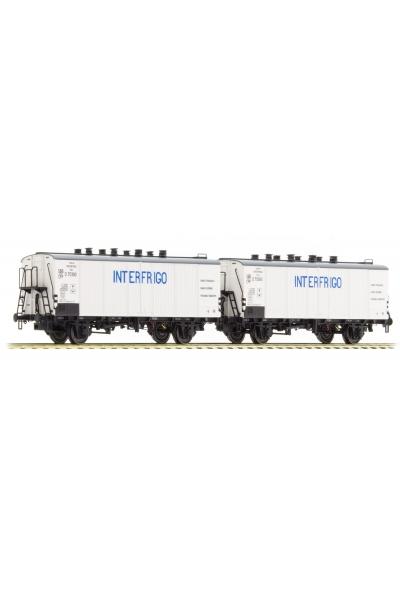 LSM 37152 Набор вагонов Icefs INTERFRIGO SBB Epoche III 1/87