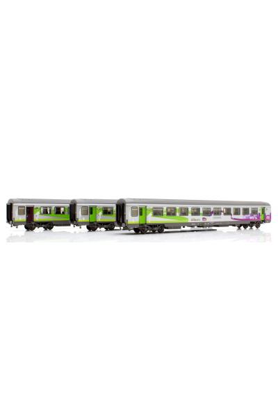 LSM 40292 Набор вагонов VTU A10tuh 2xVTU B10tuCorail SNCF Epoche V-VI 1/87