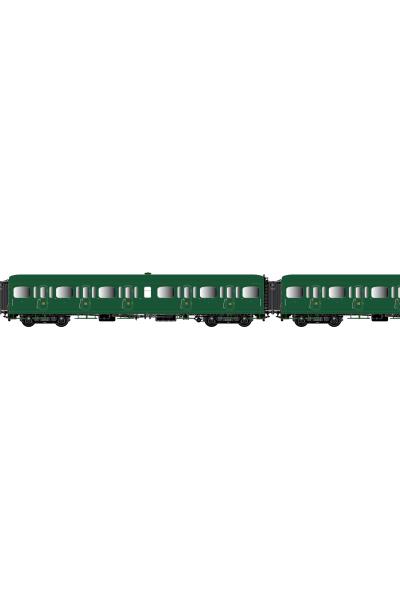 LSM 40321 Набор вагонов Express Nord C11+C11+B4d SNCF Epoche II 1/87