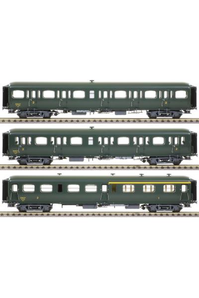 LSM 40328 Набор вагонов Express Nord A3B4 B9 B11 SNCF Epoche III 1/87