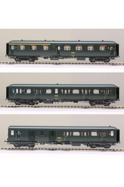 LSM 40329 Набор вагонов Express Nord A3B4 B9 B11 SNCF Epoche III 1/87
