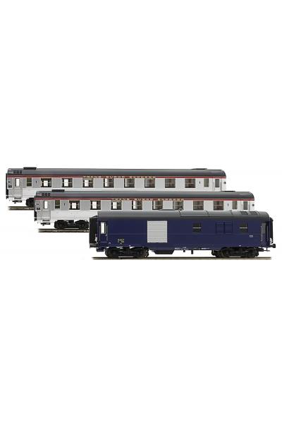 LSM 41105 Набор пассажирских вагонов Mistral 56 Paris-Nizza SNCF Epoche III 1/87