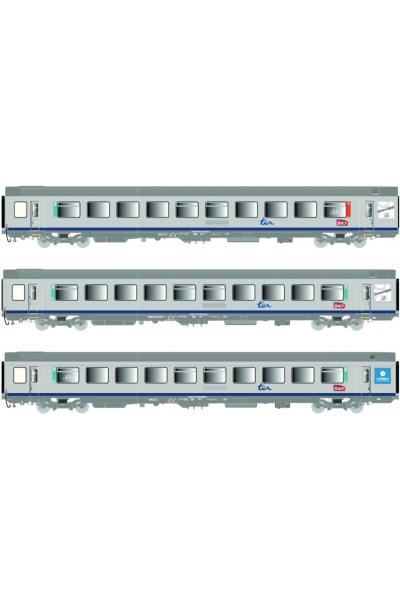 LSM 41206 Набор вагонов Corail VTU SNCF Epoche VI 1/87