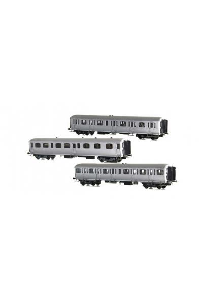 LSM 42170 Набор вагонов A3B4yfi+B9Yfi+C11yi SNCB Epoche II 1/87