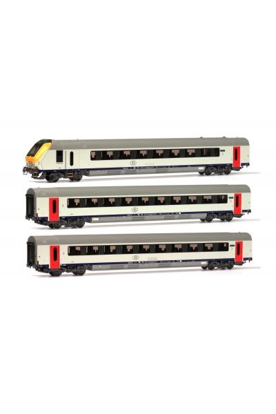 LSM 43047 Набор пассажирских вагонов I11BDbfpm 2xI11Bpm SNCB Epoche VI 1/87