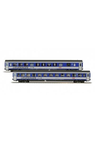 LSM 47151 Набор пассажирских вагонов Bcmz 59-91.2 OBB Epoche V-VI 1/87