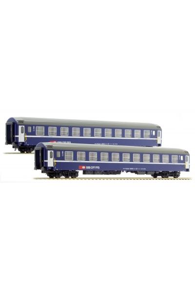 LSM 47325 Набор пассажирских вагонов Bcm SBB Epoche IV-V 1/87