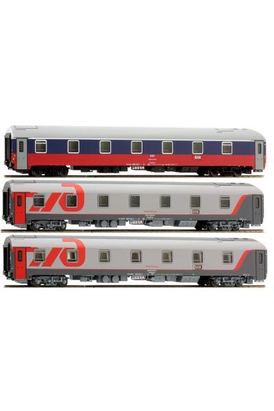 """LS Models 48029 Набор вагонов """"МОСКВА-НИЦЦА 2010"""" РЖД Эпоха VI 1/87"""