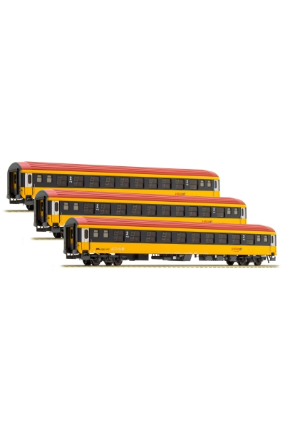 LSM 48153 Вагон пассажирский Bcmz 59-70 Regiojet PRIVAT Epoche VI 1/87