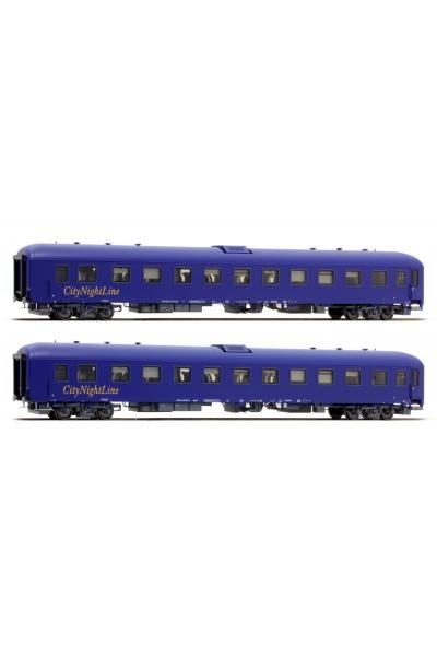 LSM 49006 Набор пассажирских вагонов Bpm+Bpm CNL Epoche V 1/87