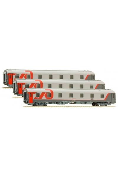 LS Models 58027 Набор вагонов WLABmee МОСКВА-БЕРЛИН 2010 РЖД эп.VI 1/120