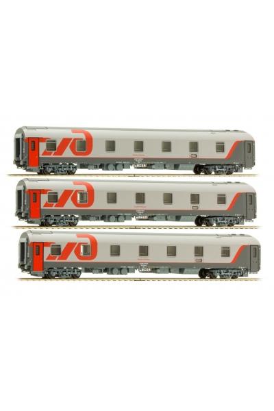 LS Models 58028 Набор вагонов WLABmee МОСКВА-БЕРЛИН 2010 РЖД эп.VI 1/120