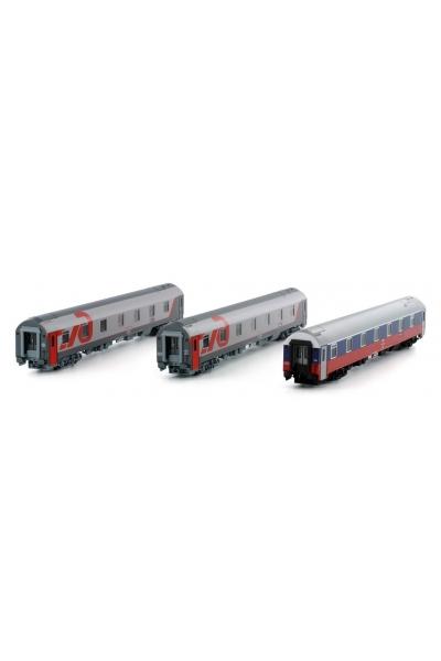 LS Models 58029 Набор вагонов WLABmee МОСКВА-НИЦЦА 2010 РЖД эп.VI 1/120