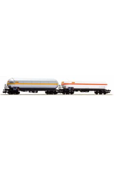 LSM 60132 Набор вагонов Uas 2шт Sati Napthachemie SNCF Epoche IV 1/160