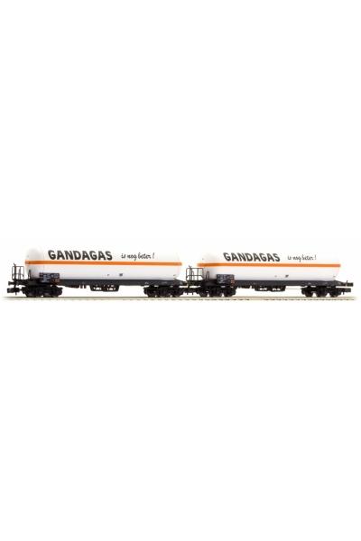 LSM 62030 Набор вагонов Uas 2шт Gandagas SNCB Epoche IV-V 1/160