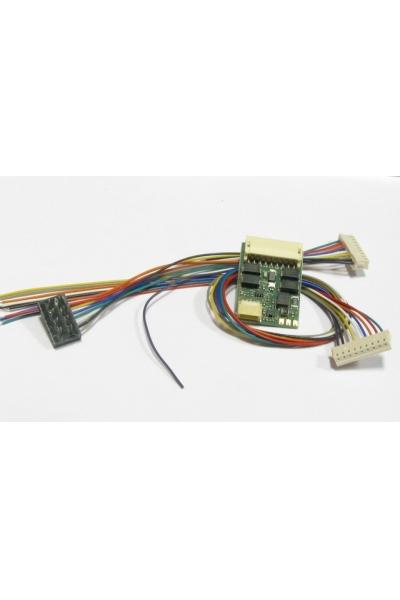 Lenz 10433 Декодер Gold DCC 8-pin NEM 652 с проводами