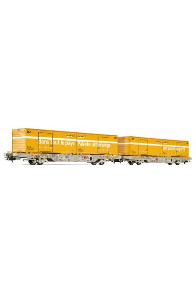 Liliput 240039 Набор вагонов Lgnss AEE 2шт с контейнерами Schweizer Post Epoche VI 1/87