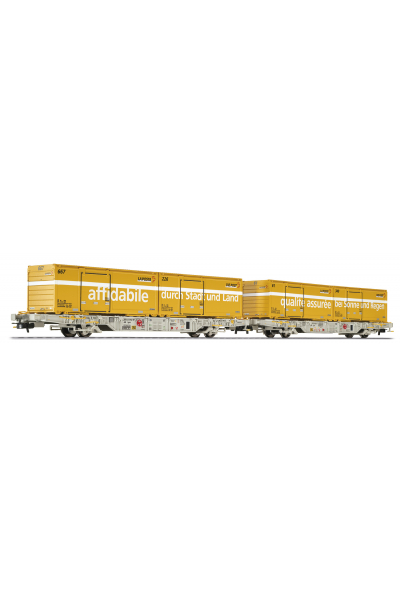 Liliput 240042 Набор вагонов Lgnss AEE 2шт с контейнерами Schweizer Post  Epoche VI 1/87