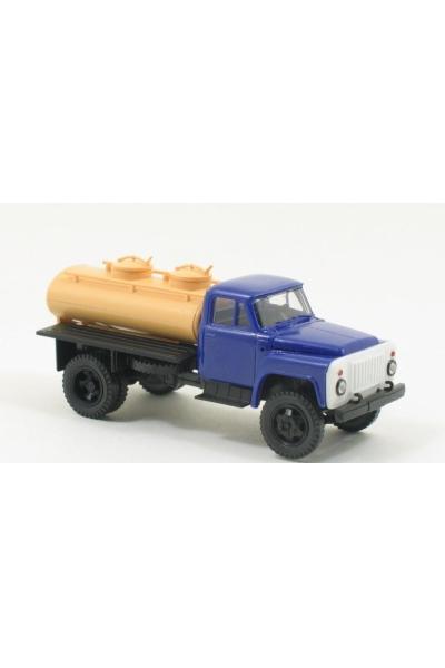 MM 36356 Автомобиль ГАЗ-52 АЦПТ-2,1 молоковоз кабина синяя 1/87