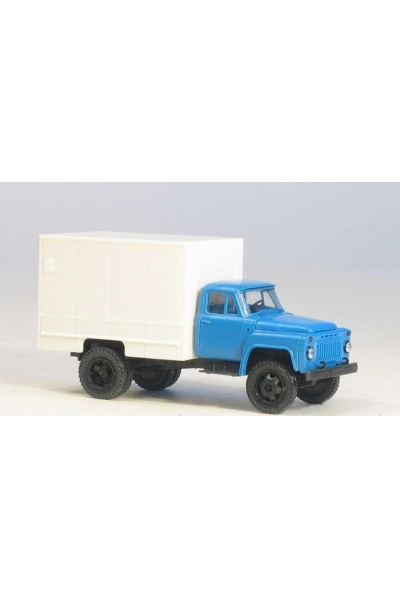 MM 37366 Автомобиль ГАЗ-52 изотермический фургон У-127 гражд.кабина синяя 1/87
