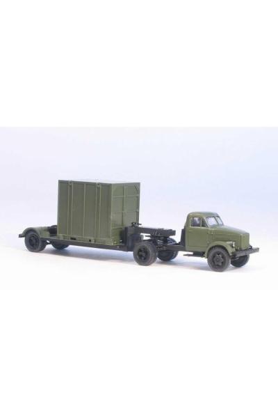 MM 39220 Автомобиль ГАЗ-51П седельный тягач + 5Т. контейнеровоз армейский 1/87