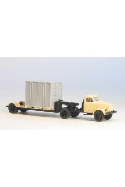 MM 39223 Автомобиль ГАЗ-51П седельный тягач + 5Т. контейнеровоз гражд.кабина беж 1/87