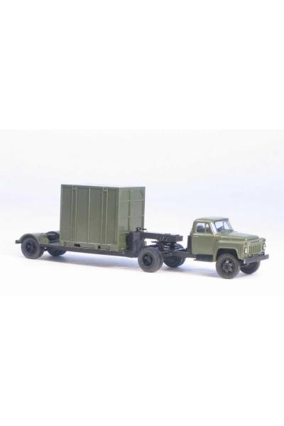 MM 39320 Автомобиль ГАЗ-52-06 седельный тягач + 5Т. контейнеровоз армейский 1/87