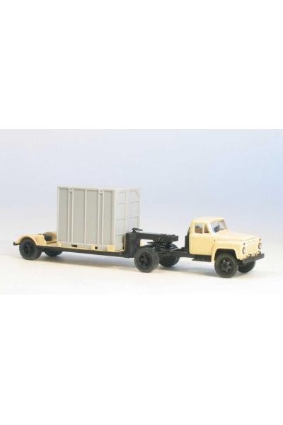 MM 39323 Автомобиль ГАЗ-52-06 седельный тягач + 5Т. контейнеровоз гражд.кабина беж 1/87