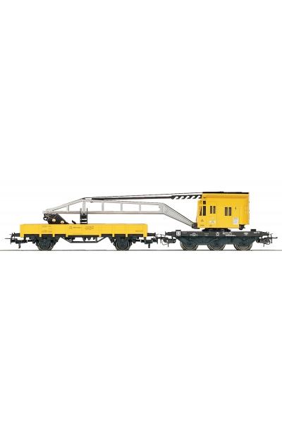 Marklin 4671+4471 Железнодорожный кран с платформой DB AG Epoche V 1/87