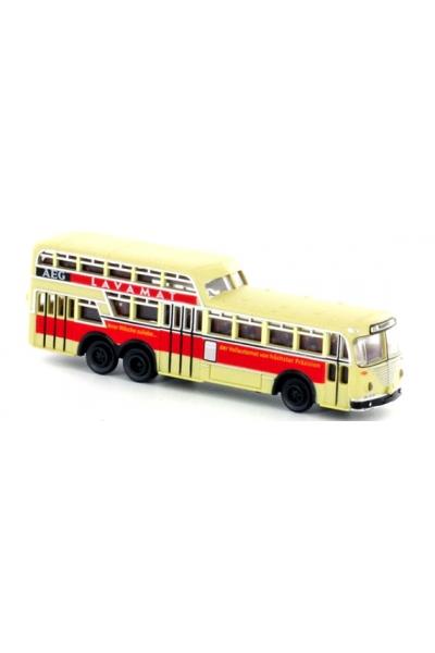 Minis 3902B Автобус Bussing 1 1/2 Decker Ludewig, AEG Lavamat с освещением 1/160
