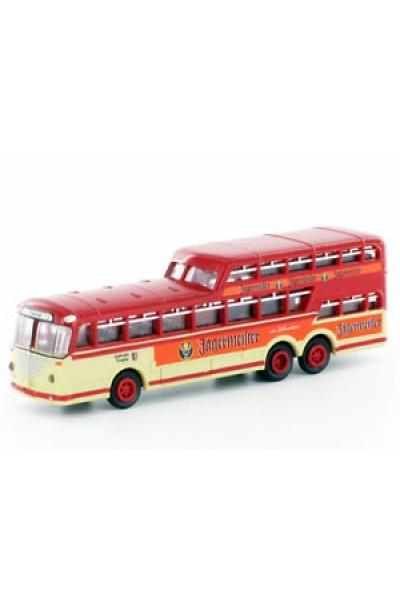 Minis 3909B Автобус Bussing 1 1/2 Decker Jagermeister 2 с освещением 1/160