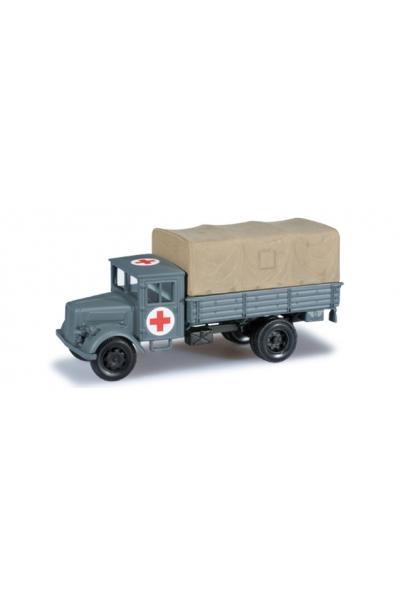 """Minitanks 744737 Deutz Planen-LKW """"Rotes Kreuz"""" Wehrmacht 1/87"""