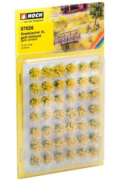 Noch 07026 Набор кочек цветущие жёлтые 12мм 42шт