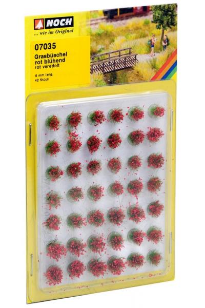 Noch 07035 Набор кочек цветущие красные 6мм 42шт