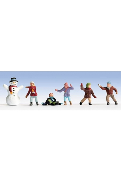 Noch 15818 Дети и снеговик 1/87