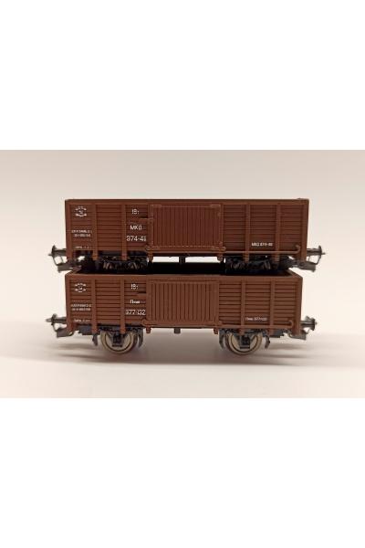 Пересвет 3202 Набор полувагонов на раме вагона НТВ СЖД эп. III 1/120