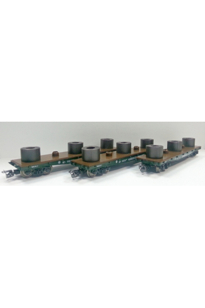Пересвет 3807 Набор платформ для перевозки стали в рулонах РЖД эпоха V 1/120