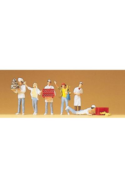 Preiser 10377 Набор фигур в пекарне 1/87
