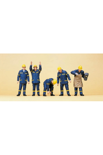 Preiser 10433 Рабочие THW 1/87