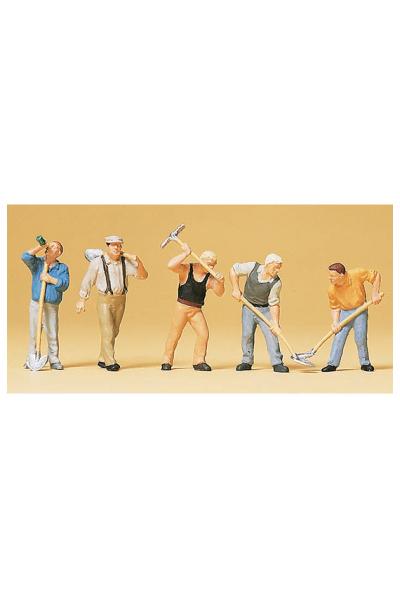 Preiser 10461 Рабочие с лопатами 1/87