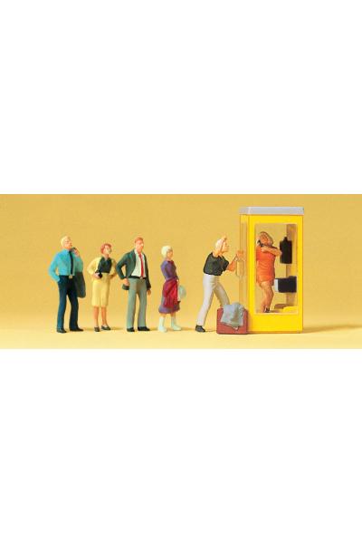 Preiser 10523 Люди ждут у телефонной будки 1/87